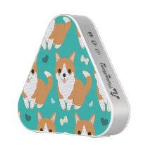 Kawaii Cute Corgi dog simple illustration pattern Speaker