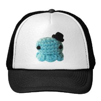 Kawaii Cute Crochet Amigurumi Octopus Top Hat Blue