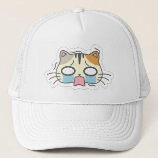 Kawaii Cute Crying Little Kitty Kitten Cat. Trucker Hat