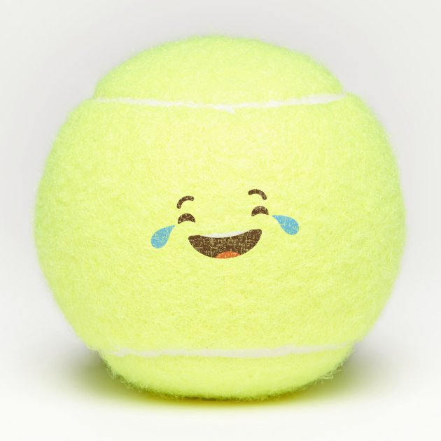 Kawaii Cute Emoticon Emoji Face Tennis Balls Zazzle Com