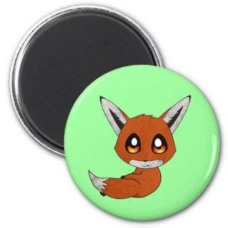 kawaii cute fox 2 inch round magnet