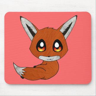 kawaii cute fox mouse pad