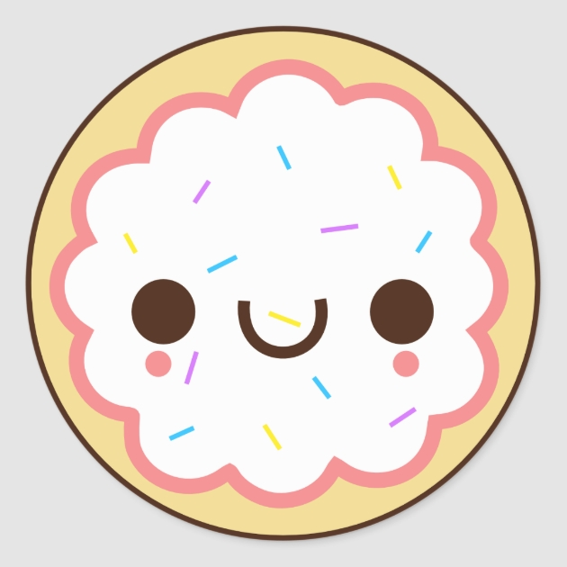 Ben noto Cute Kawaii Cookie Stickers | Zazzle NT83