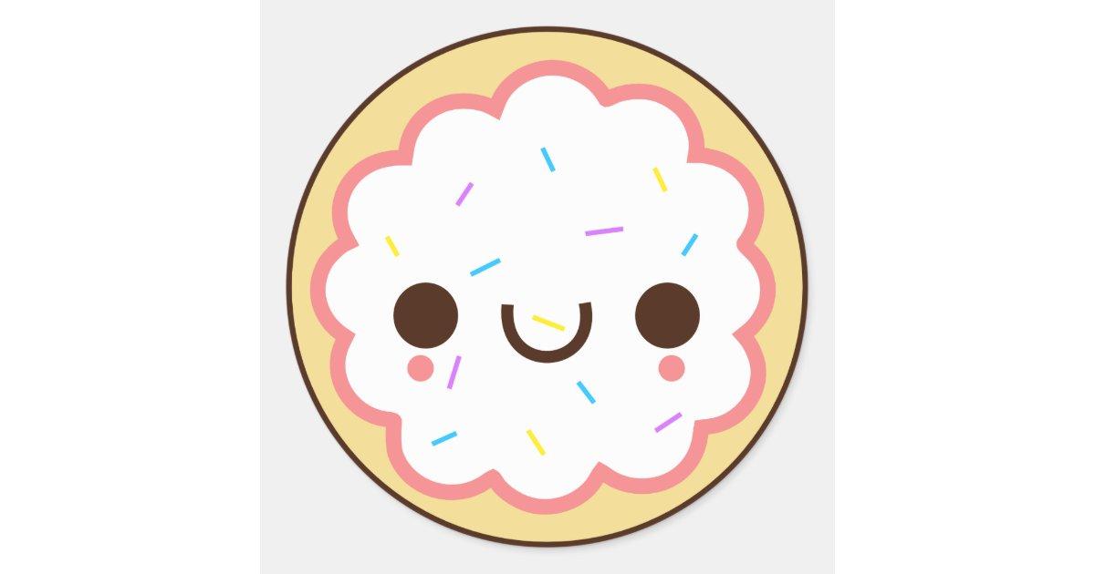 kawaii cute frosted sugar cookie Sticker | Zazzle.com