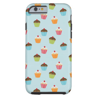 Kawaii cute girly cupcake cupcakes foodie pattern tough iPhone 6 case