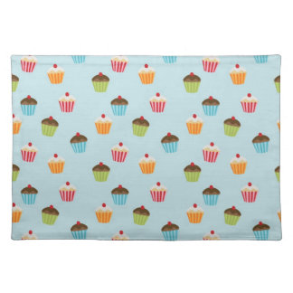 Kawaii cute girly cupcake cupcakes foodie pattern cloth placemat