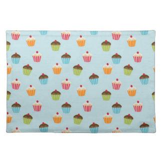 Kawaii cute girly cupcake cupcakes foodie pattern cloth placemat