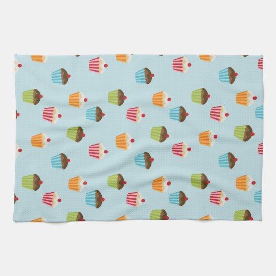 Kawaii cute girly cupcake cupcakes foodie pattern hand towel