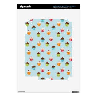Kawaii cute girly cupcake cupcakes foodie pattern iPad 3 skin