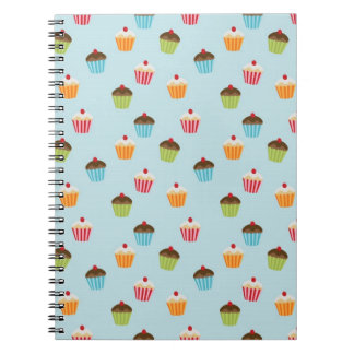Kawaii cute girly cupcake cupcakes foodie pattern notebook