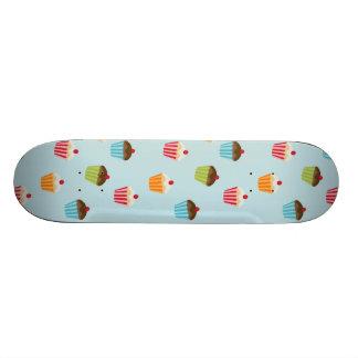 Kawaii cute girly cupcake cupcakes foodie pattern skateboard deck