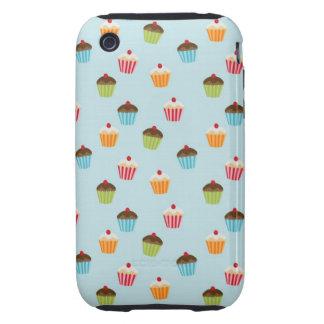 Kawaii cute girly cupcake cupcakes foodie pattern tough iPhone 3 case