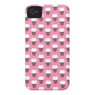 Kawaii cute girly ice cream cone food pattern chic iPhone 4 Case-Mate cases