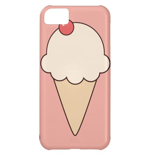 Kawaii cute girly ice cream cone sundae dessert iPhone 5C cover