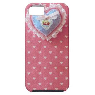 Kawaii Cute Girly Sewn Heart Case