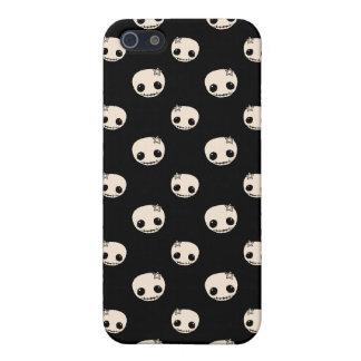 Kawaii cute goth girly skull emo polka dot pattern iPhone 5 cases