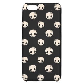 Kawaii cute goth girly skull emo polka dot pattern case for iPhone 5C