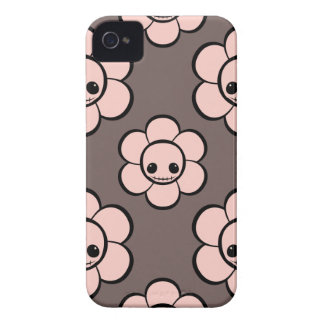 Kawaii cute goth girly skull flower floral pattern Case-Mate iPhone 4 case