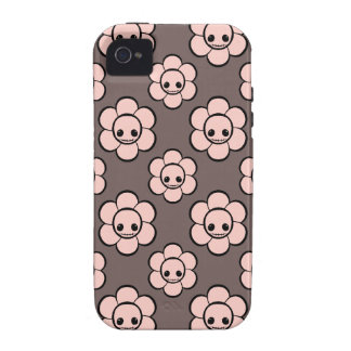 Kawaii cute goth girly skull flowers floral case Case-Mate iPhone 4 cover