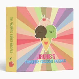 Kawaii Cute Ice Cream Dessert Recipes binder
