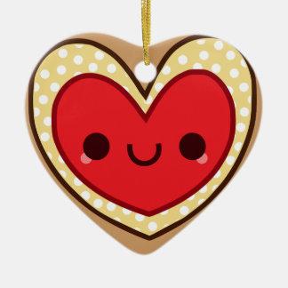 kawaii cute jelly heart cookie Ornament