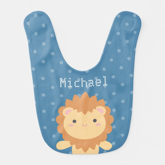 Funny Lion Baby Bib or Burp Cloth With Sayings King of The Jungle