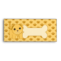 Kawaii Cute Labrador Retriever Puppy Dog Cartoon Envelope
