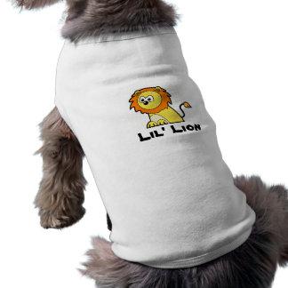 Kawaii cute lil' lion baby cub cartoon graphic dog t shirt