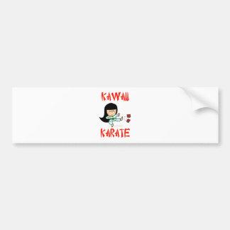 kawaii cute martial arts chibi karate bumper sticker