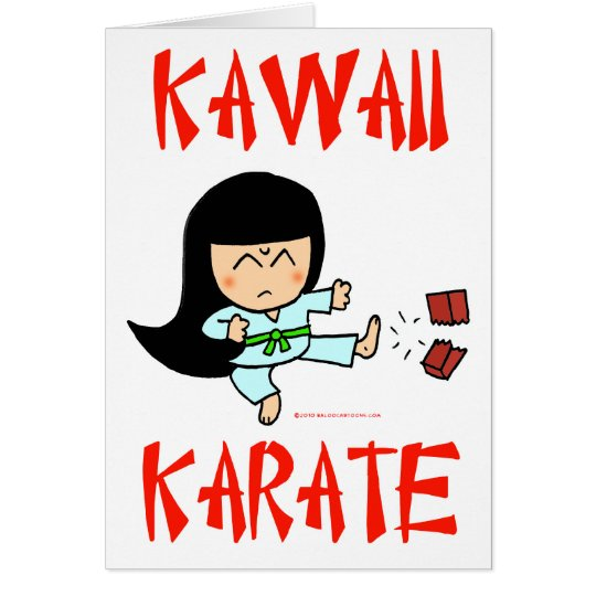kawaii cute martial arts chibi karate two card
