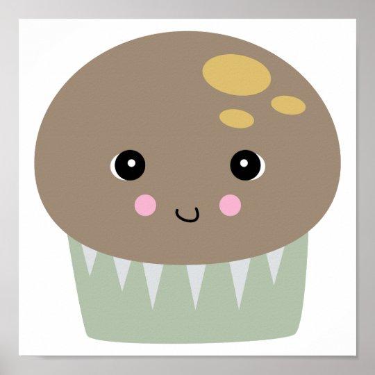 kawaii cute muffin poster