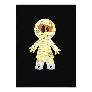 Kawaii Cute Mummy Halloween 5x7 Paper Invitation Card