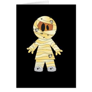 Kawaii Cute Mummy Halloween Greeting Card