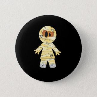 Kawaii Cute Mummy Halloween Pinback Button