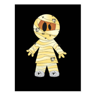 Kawaii Cute Mummy Halloween Post Card