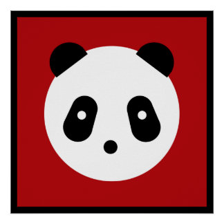 Kawaii ~ Cute Panda Face Poster