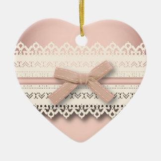 kawaii cute princess pink bow lace girly ceramic ornament