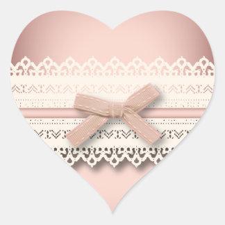kawaii cute princess pink bow lace girly heart sticker