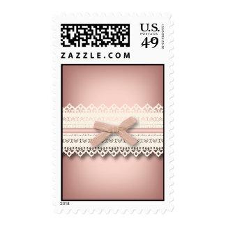 kawaii cute princess pink bow lace girly postage