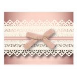 kawaii cute princess pink bow lace girly postcard