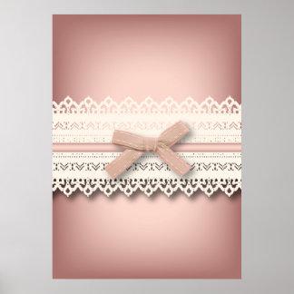 kawaii cute princess pink bow lace girly poster