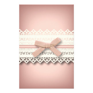 kawaii cute princess pink bow lace girly stationery