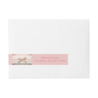 Kawaii Cute princess Pink bow Lace girly Wrap Around Address Label