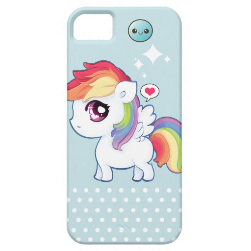 kawaii iphone 5 case kawaii rainbow pony iphone 5 zazzle 15599