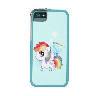 Kawaii cute rainbow pony with sparkle stars iPhone 5 cover