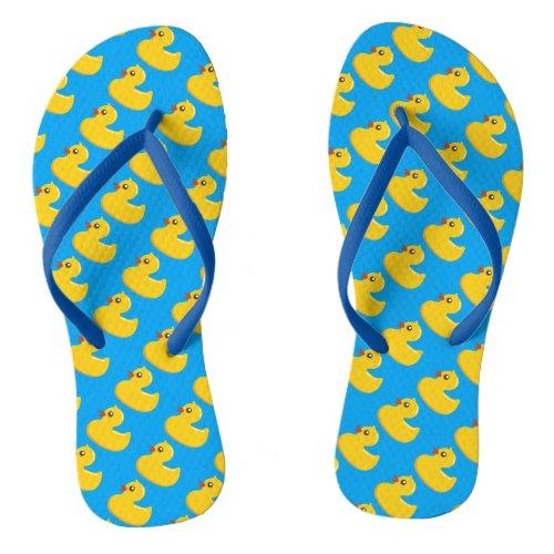 Kawaii Cute Rubber Ducky Flip Flops