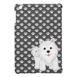Kawaii Cute Samoyed Puppy Dog Cartoon Animal Cover For The iPad Mini