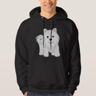 Kawaii Cute Samoyed Puppy Dog Cartoon Animal Hoodie