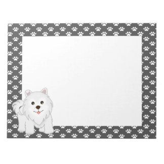 Kawaii Cute Samoyed Puppy Dog Cartoon Animal Notepad