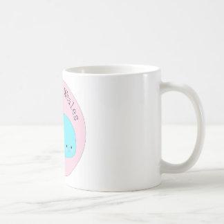 Kawaii cute save the whales coffee mug